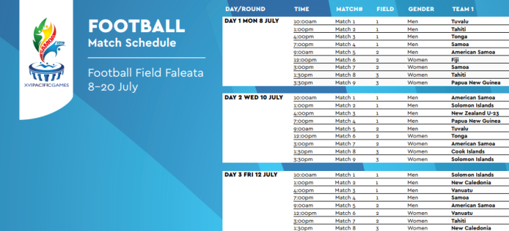 Pacfici Games schedule tiny